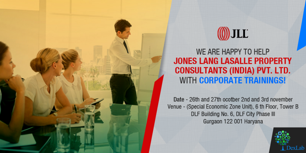 DexLab Analytics has started their Corporate Training sessions on Tableau BI for Jones Lang LaSalle Pvt. Ltd.