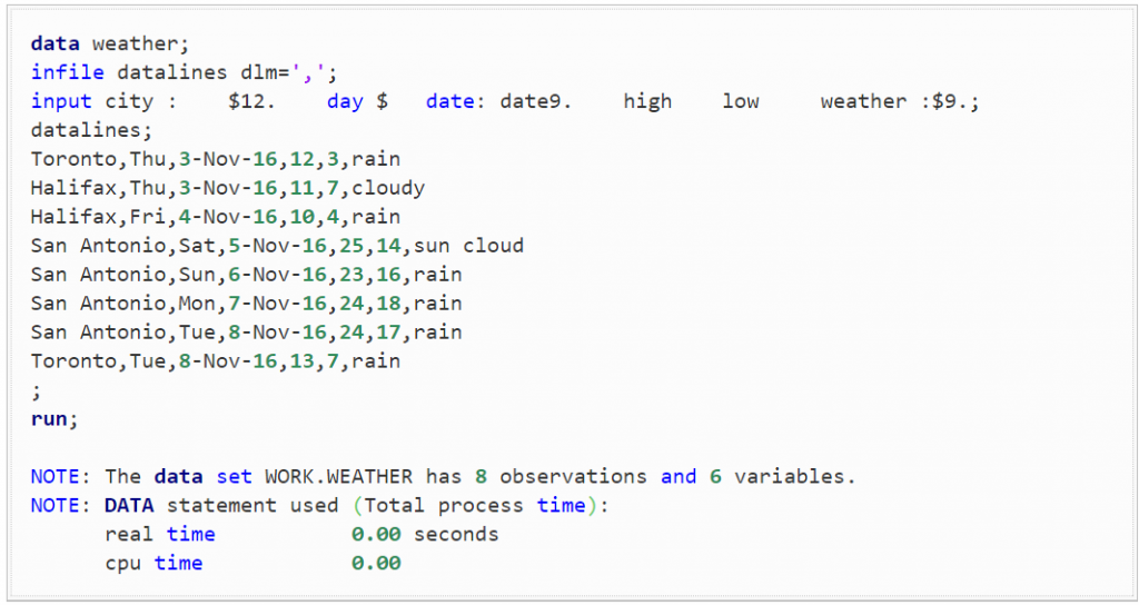 The first step is to construct the weather dataset by pulling them out the data from a simple Google Search.