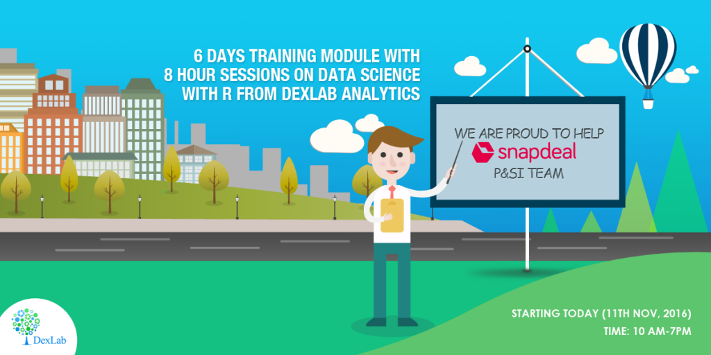 We Are Training Snapdeal on Data Science with R