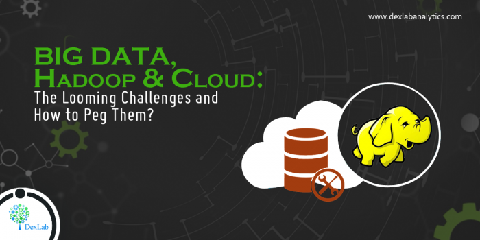 Big Data, Hadoop and Cloud: The Looming Challenges and How to Peg Them?