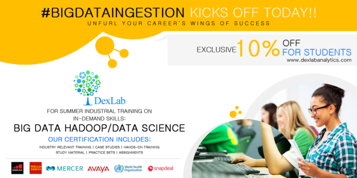 #BigDataIngestion: DexLab Analytics Offers Exclusive 10% Discount for Students This Summer