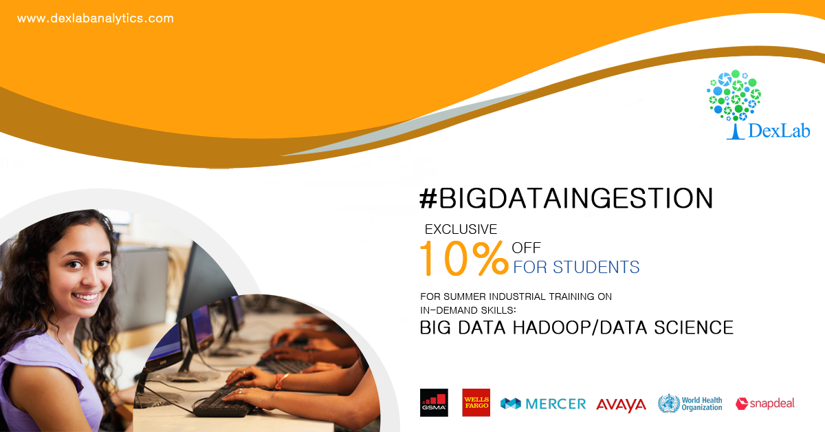 Enjoy 10% Discount, As DexLab Analytics Launches #BigDataIngestion