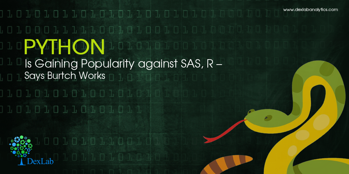 Python Is Gaining Popularity against SAS, R – Says Burtch Works