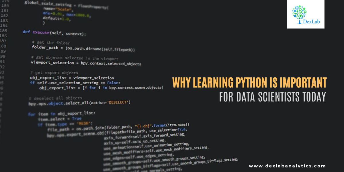 Why Learning Python is Important for Data Scientists Today